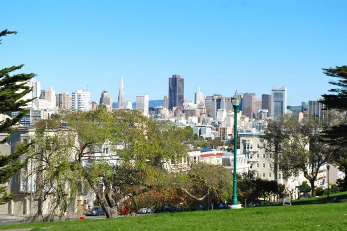 Alamo Square  View  Downtown